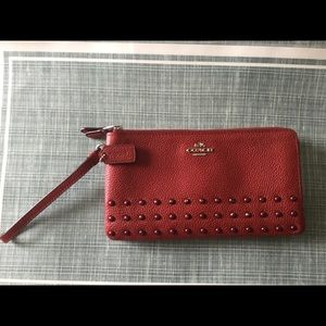 Authentic Coach Red Wristlet